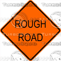 Construction Rough Road Sign