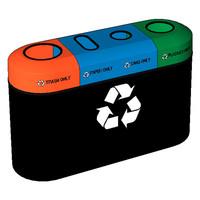 Fibrex Mobius ED4100 Four Compartment Recycling Bin
