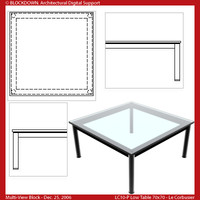 LC10-P Low Table 70x70 Multi-View Block