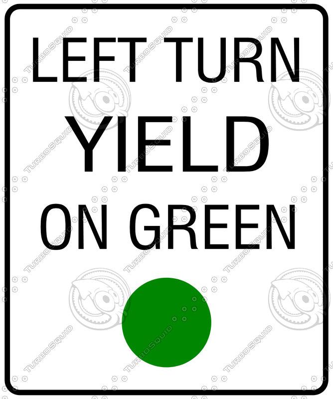 Texture jpg Left Turn Yield - 80.4KB