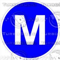Metro M Sign