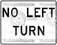 No Left Sign 2