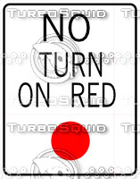 No Turn Red Sign