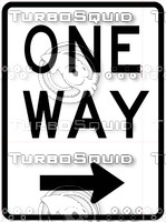 One Way Right Sign 2