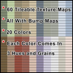 60 Tileable Texture Maps of Siding