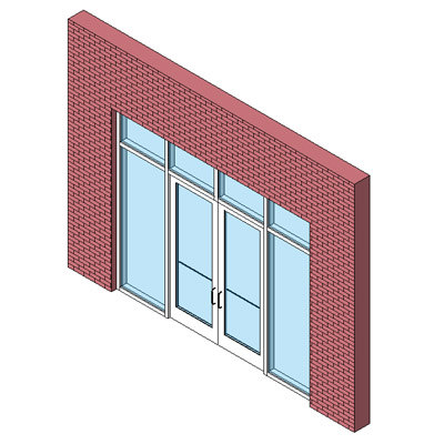 Curtain Wall Storefront Door - Double
