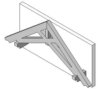 Timber Scissor Truss - Wall Mount