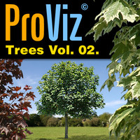 3dRender Pro-Viz Trees Vol. 02
