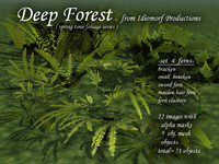 Idiomorf Deep Forest set-4 Ferns
