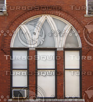 Brick arch and window texture