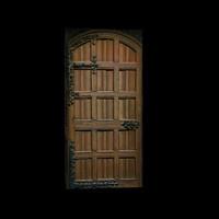 Medieval nobility wooden door