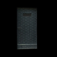 Medieval studded dungeon door