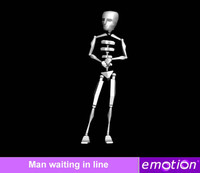 emo0006-Man waiting in line
