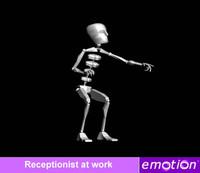 emo0006-Receptionist at work