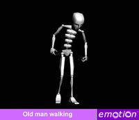emo0007-Old man walking