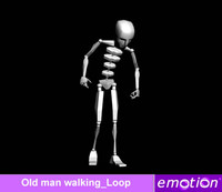 emo0007-Old man walking_Loop