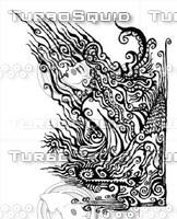 goddess floral ornament