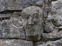 carved stone head photo
