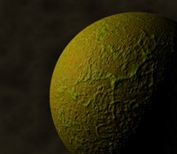 Green Planet texture with bumpmap.