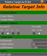 Script - Relative Target Az El dist