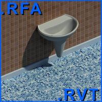 3d revit plumbing fixtures sink