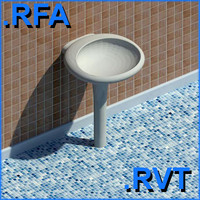 revit plumbing fixtures sink 05 2D&3D