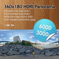 Hi Res Spherical HDRI map [P015] [6000x3000px]