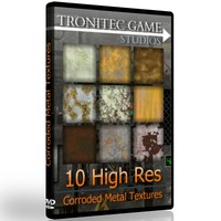 10 High Res Corroded Metal Textures