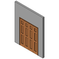 Wood Bifold Door, Double