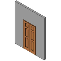 Wood Bifold Door, Single