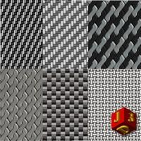 Carbon fiber 6 texture collections.