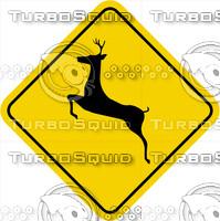 Caution Deer Crossing Sign