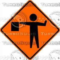 Construction Flagger Sign