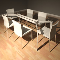 Prism Table & Miles Chairs