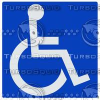 Handicap Symbol Sign