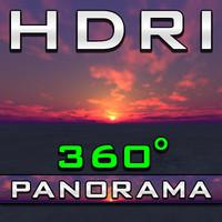 HDRI Panorama - Hawaii Sundawn