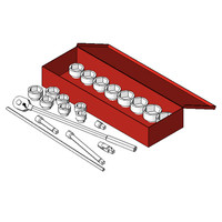 Mac Tools SW216BR 21-Pc 6 Pt Heavy-Duty Supreme Socket Set