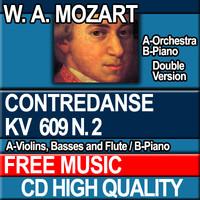 W.A. MOZART - CONTREDANSE KV 609 N. 2 [Piano ver.]