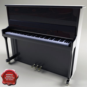 piano modelled 3d model