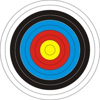 Target for archery.