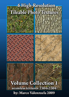 6 High-res Seamless Texture Tiles Vol. 1