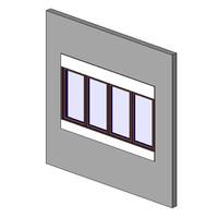 Window, CM, QUAD, Sill-Head, Trim