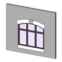 Window, CM, TPL, Archtop, Offset Muntin, Sill-Head-Keystone, Trim