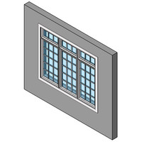 Fixed Window, Multiple With Transom