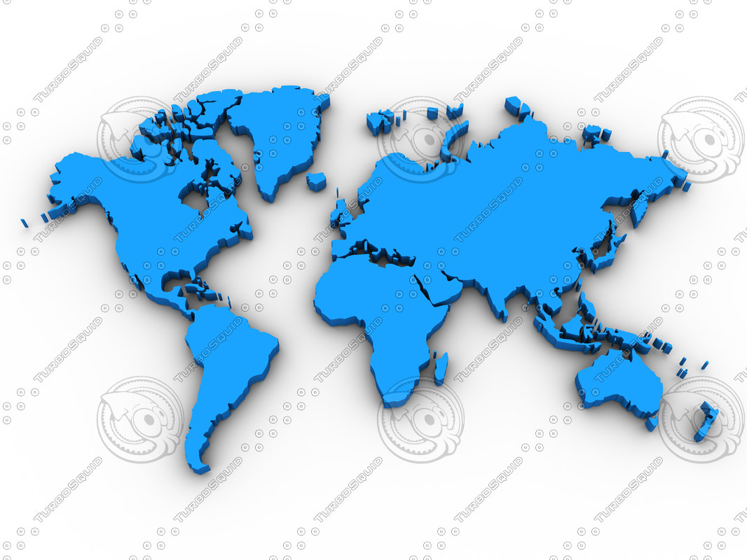 Stock other map world continent 3d world map gumiabroncs Choice Image