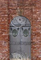 Brick arch and door texture