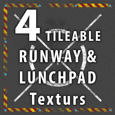 4 Launch Pad Runway Tileable