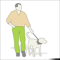 Character Man width Dog 00874se