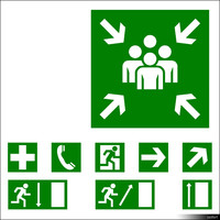 2D Symbol Escape Signs 00931se
