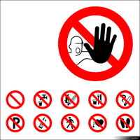 2D Symbol Prohibition Signs 00941se